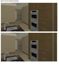 white interior doors with stained wood trim. Wonderful Doors Stained Trim And Painted Doors 3D Renderings  Attachedview_from_kitchenjpg To White Interior Doors With Wood Trim