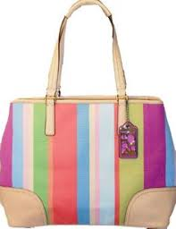 Coach 19357 Hamptons Multicolored Stripe Medium « Holiday Adds   coachpoppyblossom · Medium ToteCOACH ...