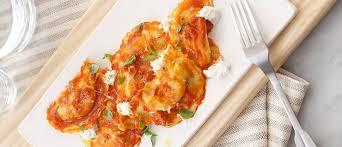 italian sausage ravioli marinara with