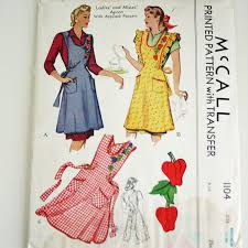 Vintage Apron Patterns Gorgeous Vintage Apron Patterns Vintage Apron Pattern 48's McCall 48