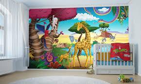 déco murale chambre bébé jungle