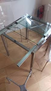 lovely ikea glivarp glass metal extendable dining table