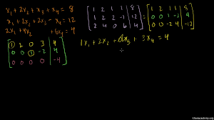 using matrix row echelon form in order to show a linear system has no solutions khan academy