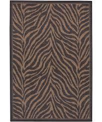 couristan recife zebra indooroutdoor area rug black brown zebra outdoor rug