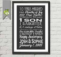 25th wedding anniversary gift ideas for husband unique wedding 10th wedding anniversary gift luxury 10 year