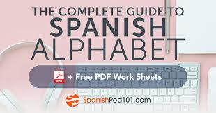 Spanish Alphabet Pronunciation Chart Learn The Spanish Alphabet With The Free Ebook Spanishpod101
