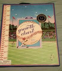 Eeboo Keepsake Hanging Baseball Growth Chart New In Box 37