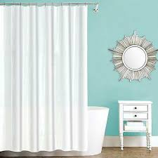 extra wide shower curtain liner fabric hotel quality mildew resistant washable