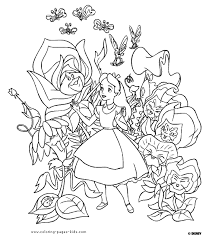 Small Picture Simple Alice In Wonderland Coloring Pages Coloring Pages