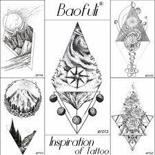 Baofuli 20 стиль временная мужская геометрическая татуировка с