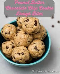 peanut butter chocolate chip cookie dough bites. Modren Peanut Peanut Butter Chocolate Chip Cookie Dough BitesAris Menu In Bites C