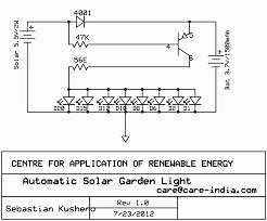 automatic solar garden light circuit schematic