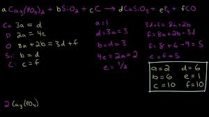 03 algebraic method for balancing chemical equations example 2 you