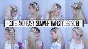 10 Cute Easy Summer Hairstyles 2018 Youtube