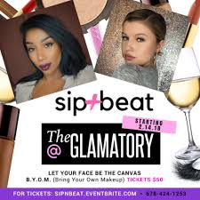 the glamatory presents sip n beat bring your makeup stash
