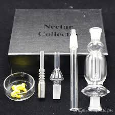water pipes bong vaporizer gift box kit 14mm 18mm nectar collector kit with gr2 anium gl nail honey straw oil rig concentrate electronic cigarette