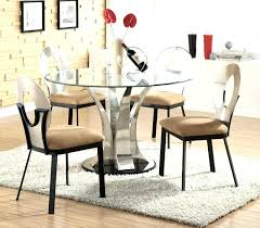modern round glass top dining table glass kitchen table set dining tables extraordinary modern round glass