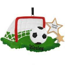 Personalized Soccer Ball With Net And Stars Ornament