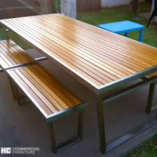 restaurant dining tables teakwood stainless steel table set 1875