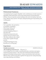 Best Pipefitter Welding Apprentice Resumes Resumehelp