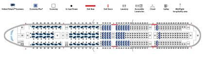the 777 300er seat map emphasises just how much of the real estate is premium image united