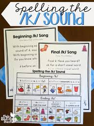 Phonics Generalizations Chart Spelling The K Sound With Freebies This Reading Mama
