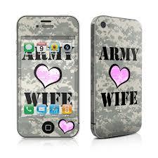 apple iphone 4 skin army wife