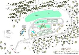 site map cania gorge tourist retreat