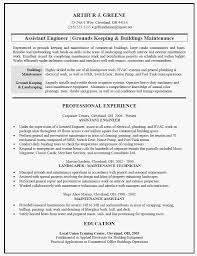 Maintenance Mechanic Resume Template Building Maintenance Resume