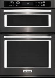 koce507ebs kitchenaid 27 inch microwave wall oven combination with even heat true convection lower oven black stainless