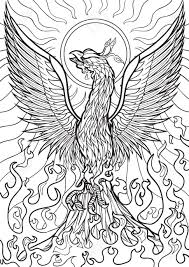 Small Picture Free Printable Phoenix Coloring Pages Coloring Coloring Pages