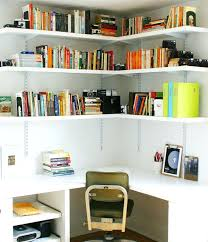 home office wall shelving. Home Office Wall Shelving Contemporary View In Gallery Corner Space Bookshelves