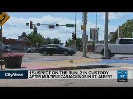 Ctv news edmonton's dan grummett reports. 1 Suspect On The Run 2 In Custody After Multiple Carjackings In St Albert Youtube