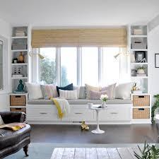 window seat in living room pastel