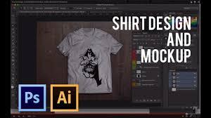 How To Make A Tshirt Design Using Illustrator How To Design A Shirt Make A Mockup Adobe Illustrator Photoshop