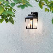 astro richmond outdoor hanging lantern wall light black