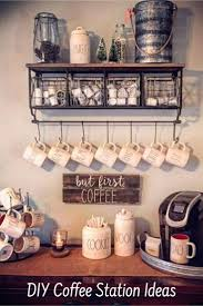 coffee bar. Great Home Coffee Bar Ideas - Love Them ALL!