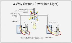 3 way switch wiring diagram 3 way switch diagram power into light