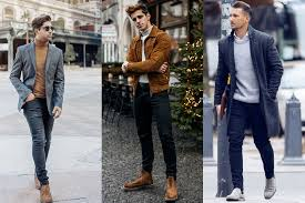 You can take distressed, skinny, cuffed or straight jeans, a white button down or printed shirt, sweater over it. 11 Best Chelsea Boots For Men How To Wear Them Man Of Many