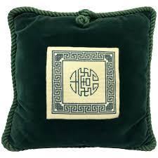 green velvet pillow. Green Velvet Pillow Needlepoint And For Sale .