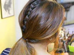 Lace Hair Style how to do a hidden dutch lace braid with pictures wikihow 5471 by wearticles.com