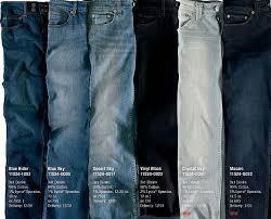 Levi Jeans Color Chart Teethcat Com