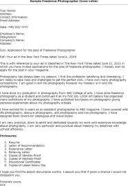 Freelance Photographer Cover Letter Euny Job Cover