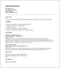 Sample Outside Sales Resume Sales Support Representative Sample Resume Podarki Co