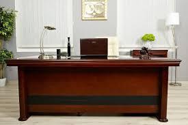 Grande scrivania direzionale da 2.2metri colore noce in mdf economica