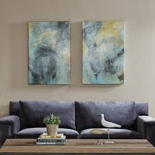 abstract canvas wall art add  on abstract wall art set of 2 with blue storms framed wall art set of 2