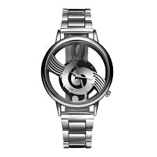 Treble Clef Music Store Treble Clef Stainless Steel Wristwatch