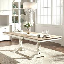 Mckay Country Antique White Pedestal Extending Dining Table By Inspire Q  Classic Qwhite With Blue Chairs