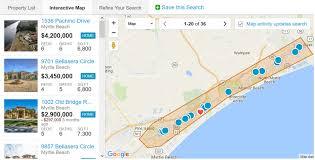 intracoastal waterway view homes via interactive map