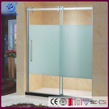 frameless sliding glass shower door 60 in width 5 16 inch frosted